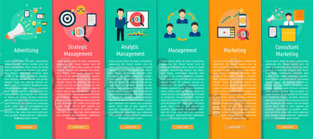 vertical banner: Marketing and Management Vertical Banner Concept