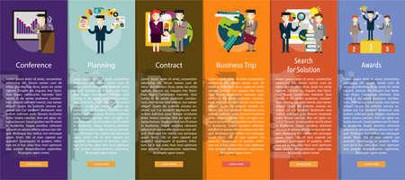 vertical banner: Business People Vertical Banner Concept