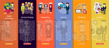 manager: Business People Vertical Banner Concept