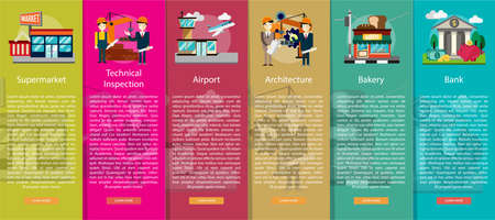 site: Building and Construction Vertical Banner Concept
