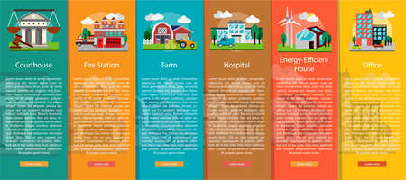 energy work: Building and Construction Vertical Banner Concept