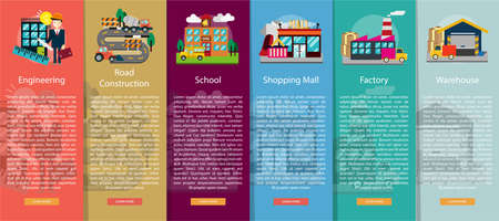 vertical banner: Building and Construction Vertical Banner Concept