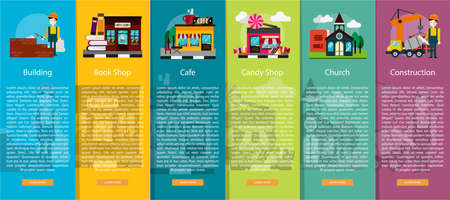 building construction: Building and Construction Vertical Banner Concept