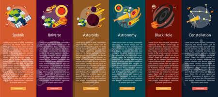 vertical banner: Space and Universe Vertical Banner Concept Illustration