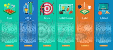 vertical banner: Sport and Awards Vertical Banner Concept