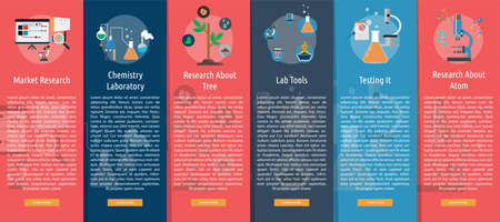 Science and Research Vertical Banner Concept Иллюстрация