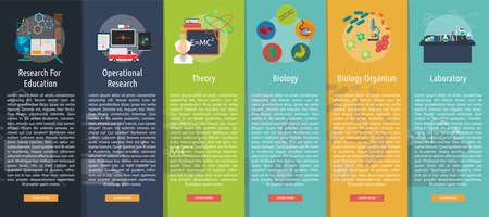 Science and Research Vertical Banner Concept Ilustração