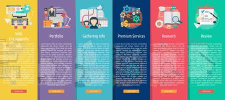 wiki: Creative Process Vertical Banner Concept Illustration