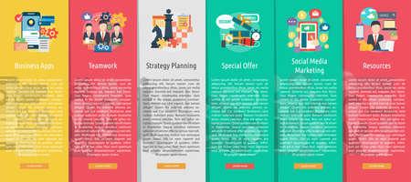 web marketing: Business Design Vertical Banner Concept