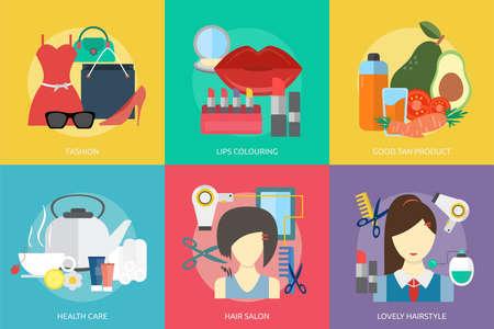 Beauty en Fashion conceptuele ontwerp