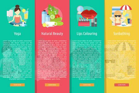 Beauty and Fashion Vertical Banner Concept Ilustração