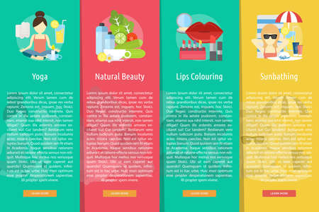 Beauty and Fashion Vertical Banner Concept Illustration