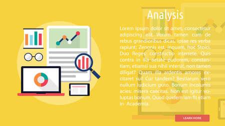 Analysis Conceptual Banner Illustration
