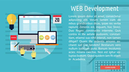 web development: Web Development Conceptual Banner