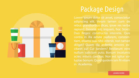 Package Design Conceptual Banner Фото со стока - 64416026