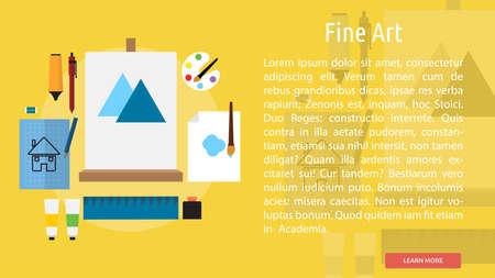 fine art: Fine Art Conceptual Banner