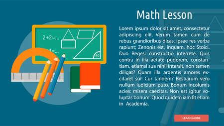 Math Lesson Conceptual Banner