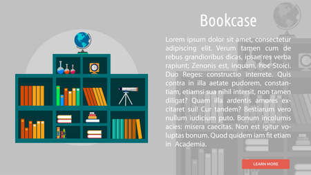 Bookcase Conceptual Banner