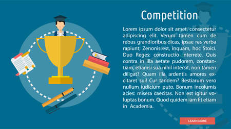 competitions: Competition Conceptual Banner Illustration