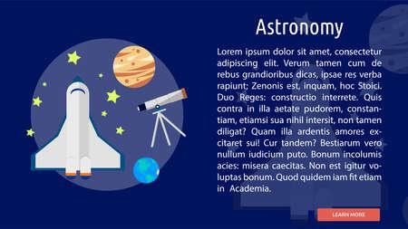 astronomy: Astronomy Conceptual Banner