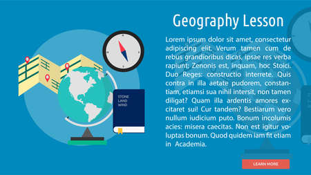 geography: Geography Lesson Conceptual Banner