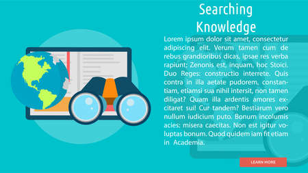 Searching Knowledge Conceptual Banner Фото со стока - 64416107