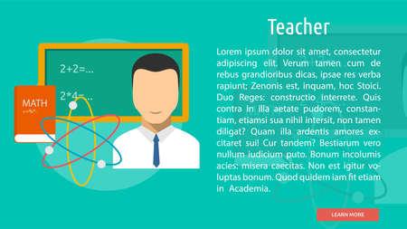 Teacher Conceptual Banner Illustration