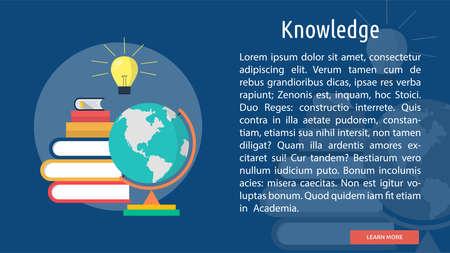Knowledge Conceptual Banner Фото со стока - 64416113