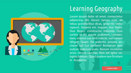 geography: Learning Geography Conceptual Banner