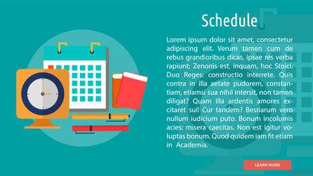 Schedule Conceptual Banner Çizim