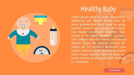 Healthy Baby Conceptual Banner