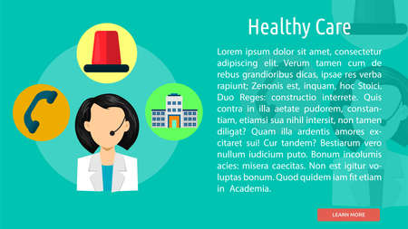 care: Healthy Care Conceptual Banner