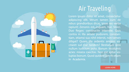 Air Traveling Conceptual Banner