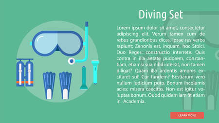 Diving Set Conceptual Banner