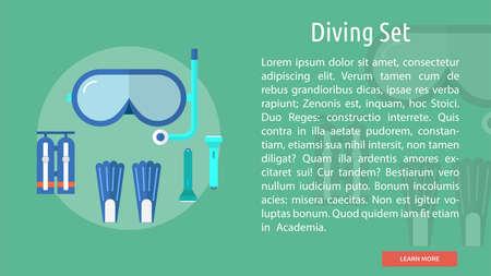 Diving Set Conceptual Banner