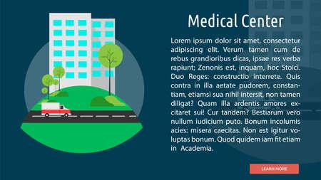 medical center: Medical Center Conceptual Banner