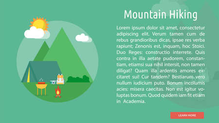 Mountain Hiking Conceptual Banner