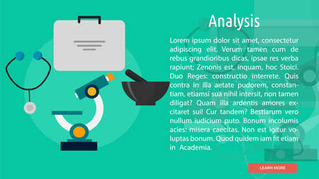 Analysis Conceptual Banner Ilustrace