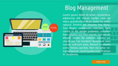 Blog Management Conceptual Banner
