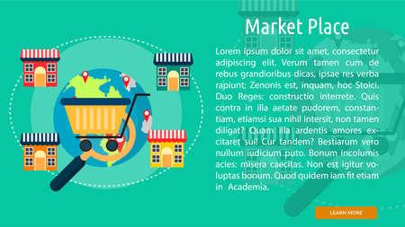 market place: Market Place Conceptual Banner