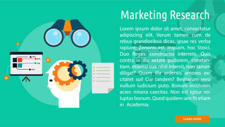 Marktforschung Konzeptionelle Banner Standard-Bild - 64416305