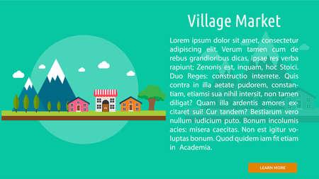 Village Market Conceptual Banner