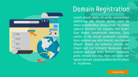 Domain Registration Conceptual Banner