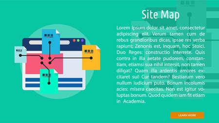 site map: Site Map Conceptual Banner