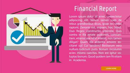 financial report: Financial Report Conceptual Banner