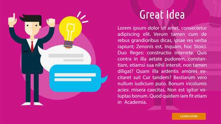 great idea: Great Idea Conceptual Banner