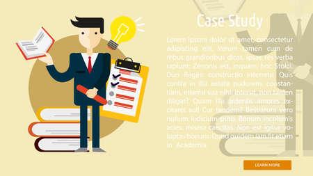 book case: Case Study Conceptual Banner