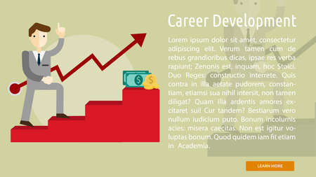 Career Development Conceptual Banner Illustration