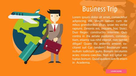 business trip: Business Trip Conceptual Banner