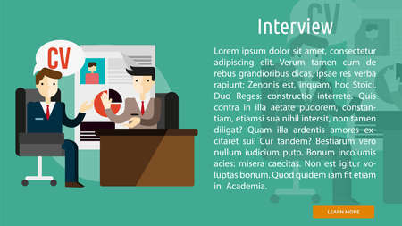 Interview Conceptual Banner